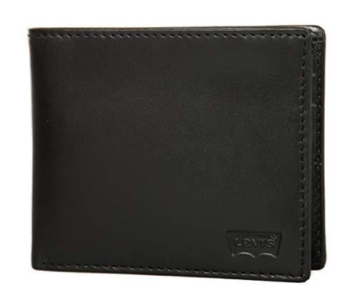 Levi's Portafoglio uomo in pelle articolo 223831 SEASONAL EMBOSS - cm. 11x9, 059 Regular black, UNICA - ONE SIZE