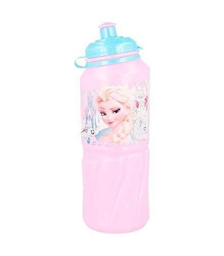 Disney Frozen Bouteille Gourde en Plastique Sport Easy Grande 530 ML Floral 'Multicolore