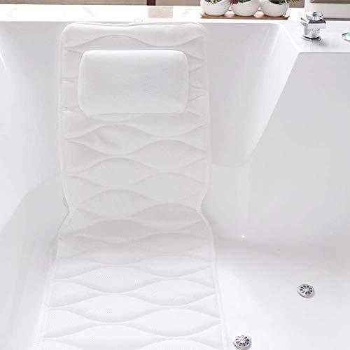 Full Body Spa Bathtub Pillow Mat, Spa Mattress Cushion with 3D Air Mesh...