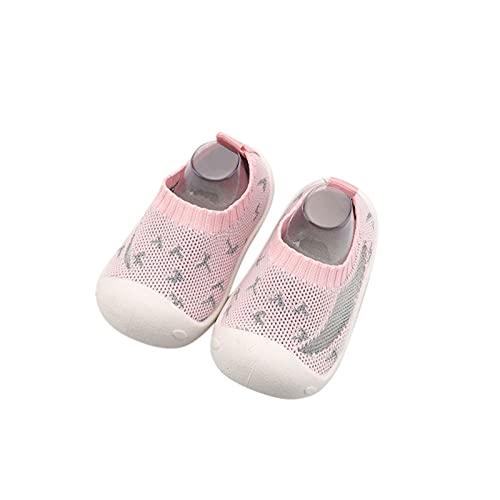 Zapatillas de Estar por Casa para Niños Zapatos de Interior de Punto Infantil Niña Cómodos Suave Antideslizante Zapatos de Deporte Zapatos Bebe Primeros Pasos Precioso con Estampado Zapatillas niño