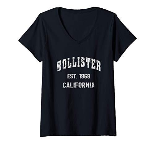 Mujer Hollister, California Home Souvenir . EST. 1868 Camiseta Cuello V