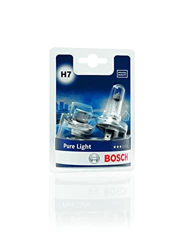 Bosch Lampadine Faro Pure Light, H7 12V 55W PX26d, (Lampadina x2)