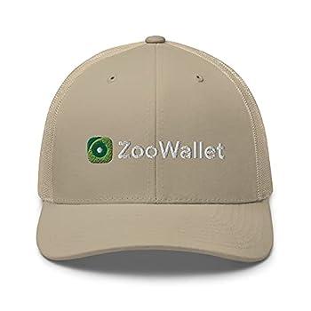 VANN S PRODUCTS LLC ZooWallet Hat ZooCoin Zoo FTM Crypto Embroidered Trucker Cap Khaki