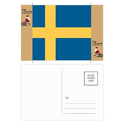 Postkarte mit Schweden-Nationalflagge Europa Land Santa Claus, 20 Stück