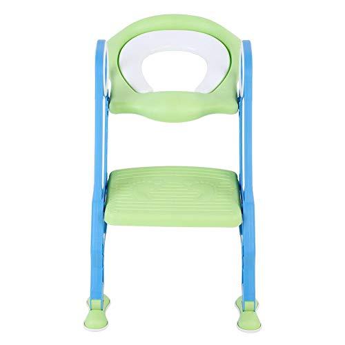 Dancal Toilettensitz Kinder, Töpfchentrainer Töpfchen Toilettenstuhl Kindertoilette mit Treppe, rutschfest Stabil Klappbar Höhenverstellbar für 1-7 jährige Kinder