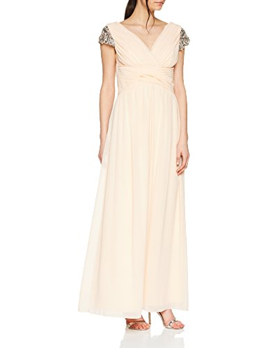 Little Mistress Womens/Ladies Jewel Sleeve Maxi Dress (8 US) (Nude)