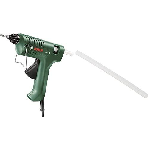 Bosch Home And Garden 603264503 Pkp 18-E - Pistola De Pegamento, 200 W, Negro/Verde + 2 609 256 A03 - Juego De 10 Barras De Pegamento Ultra Power
