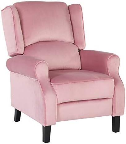 Best Artechworks Velvet Comfortable Pushback Recliner Chair for Bedroom & Living Room - Single Reclining