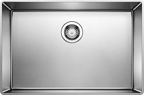 Blanco 519842 Attika - Lavello da cucina con bordo rialzato, misura piccola, in acciaio INOX