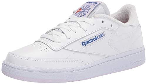 Reebok womens Club C Sneaker, White/Luminous Lilac/Court Blue, 7.5 US