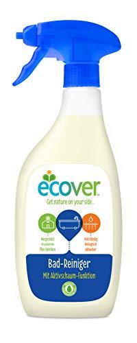 Ecover Badreiniger (500 ml), nachhaltige Sauberkeit mit pflanzenbasierten Inhaltsstoffen, kraftvoller Reiniger entfernt Seifenrückstände und Kalk
