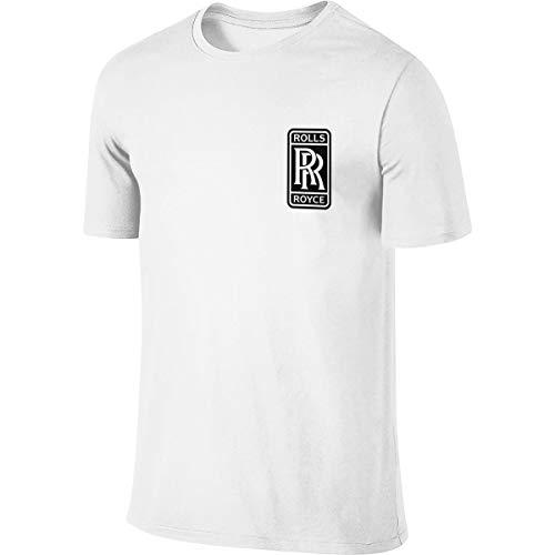 FengZe New Designed T Shirt Rolls Royce Logo Fashion Funny T-Shirt Short Sleeve for Male White L
