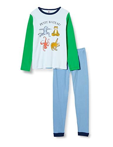 Petit Bateau Pyjama Tiere Yoga Klein Jungen in Küste Gr. 5 Jahre, Alaska/Mehrfarbig