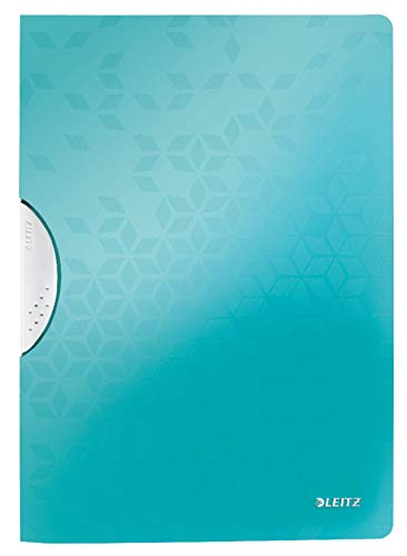 LEITZ WOW ColorClip in PPL - capacità 30 fogli - f.to A4 - Acqua marina metallizzato - 41850151