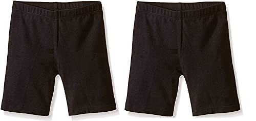 ELEG & STILANCE Spandex Soft Cotton Lycra Cycling Shorts/Shorties   Soft and Skinny Cycling/Yoga/Casual Shorts for Girls/Women/Ladies ( Black ) Pack of 2 (75 7-8 Years )