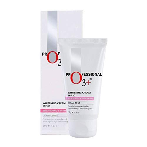 O3+ Whitening Face Cream SPF 30 for Skin Brightening, UVA UVB & Sun Tan Protection, 50g