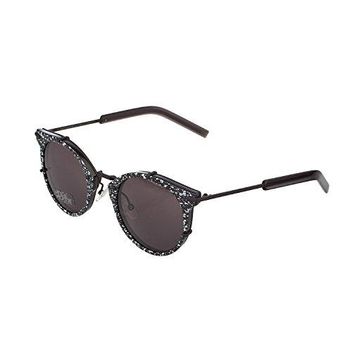 Dior DIOR0196S Y1 TC8 Gafas de sol, Negro (Black Matte Yellow Fluo/Grey), 48 para Hombre