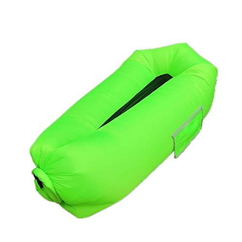 Opblaasbaar zwembad Slaapzak Waterdichte opblaasbare zak Lazy Sofa Camping Slaapzakken Air Bed Adult Beach Lounge Chair Fast Folding ZHQHYQHHX (Color : Green, Size : 26cm*70cm)