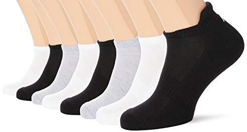 FM London - Calcetines deportivos unisex, acolchados, transpirables, antiampollas, versátiles, 8 unidades, Multicolor, UK 9-12 (EU 43-46)