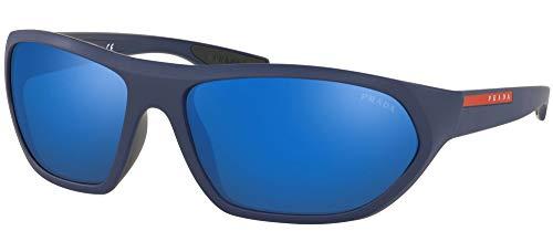 Prada LINEA ROSSA 0Ps 18Us Gafas de Sol, Matte Blue/Blue, 65 para Hombre