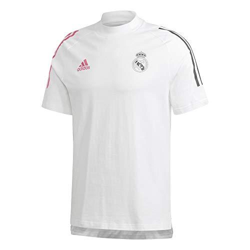 Adidas Real Madrid Temporada 2020/21 Camiseta Viaje Oficial, Unisex, Blanco, XL