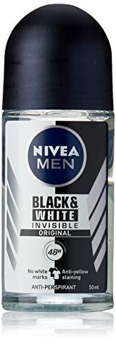 NIVEA MEN Invisible Black Deodorant Mens Anti Stain Deodorant with hour protection