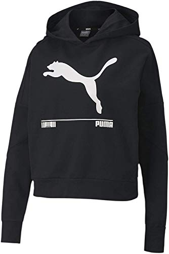 Puma Nu-tility HDY W Sudadera con Capucha, Mujer, Negro Black, L
