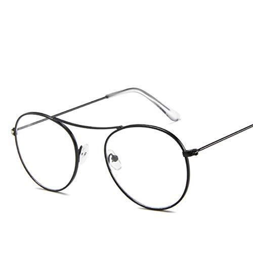 Astemdhj Gafas de Sol Sunglasses Gafas De Sol Coreanas De Moda para Mujer, Lentes Transparentes Transparentes para Hombres, Lentes De Color Rosa Océano, Gafas De Sol De Aviador PaAnti-UV