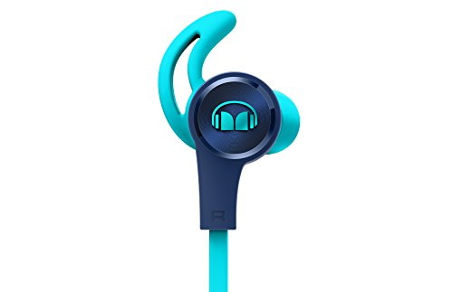 Monster iSport Achieve - Auriculares Tipo In-Ear cableado con micrófono, Color Azul