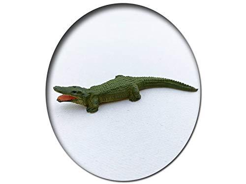 Alligator Krokodil mit offenem Maul, Modellbahnfigur handbemalt, Spur 0 (Null), 1:45