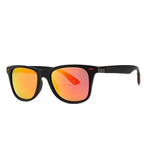 YANPAN Gafas De Sol Geniales Americana Piloto HD Clásico TR Tinta Polarizada Tendencia De Los Hombres Gafas De Sol Retro C2 Película Roja