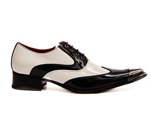 Elvis - Zapatos de hombre con punta de metal con cordones para mujer, estilo informal, color, talla 44 EU