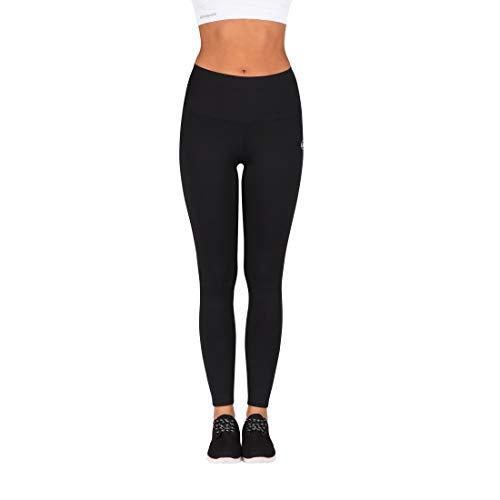 Ultrasport Damen Advanced Sport-leggings Silhouette Mit Shape-funktion, Schwarz, 2XL