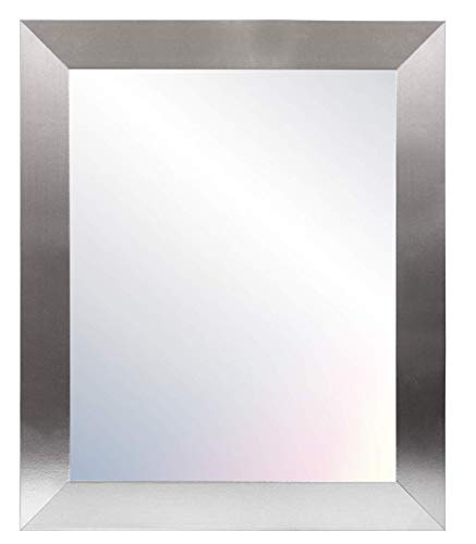 Chely Intermarket - Espejos de Pared Cuerpo Entero 50x70cm (Marco Exterior 61,1x81,1cm)(Plateado) MOD-113 | Forma Rectangular para salón, recibidor, Comedor, Acabado Elegante (113-50x70-4,25)