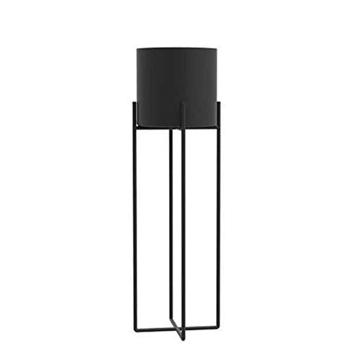HXF- Soporte para maceta de flores simple soporte para sala de estar o balcón, planta de personalidad, hierro, negro, S:19*19.5*70cm