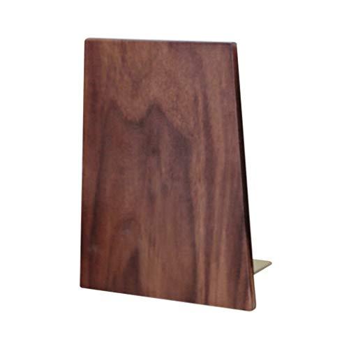 LTCTL Buchstütze Buchstützen aus Holz Nussbaum aus schwarzem Walnussholz mit...