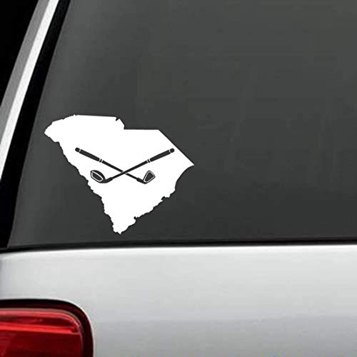 Best Design Amazing South Carolina Golf Club Driver Iron Decal Sticker Car Truck Auto SUV Golf Cart Bag Laptop Window Wall Mirror and Stick Decals - Made in USA