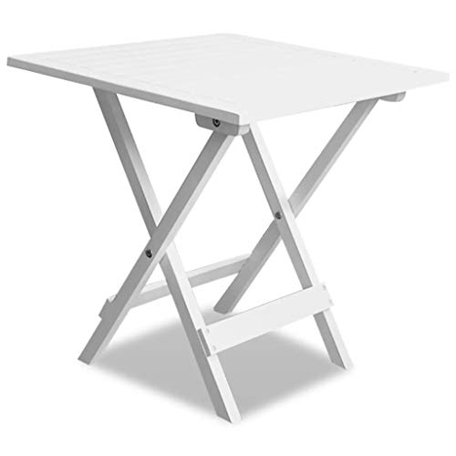 Deuba Table basse pliante en bois dacacia Tables jardin dappoint 46x46cm Pliable Jardin Terrasse Int/érieur Ext/érieur