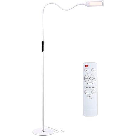 Lampadaire sur Pied Salon, Zanflare Lampadaire Led, Lampe Salon sur Pied avec Télécommande, Luminosité Réglable, pour Salon, Chambre, Bureau (blanche)