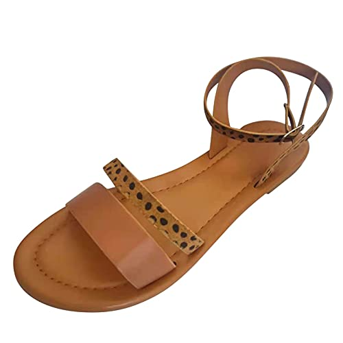 Top 10 best selling list for roman sandals buckle peep toe flat shoes