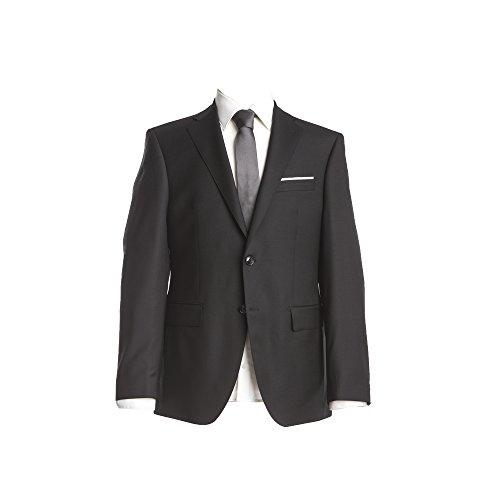 Barutti Sakko Clarenzio AMF Schwarz Uni Comfort Fit normaler Schnitt 100% Pure Wool Schurwolle Super 150 S 110