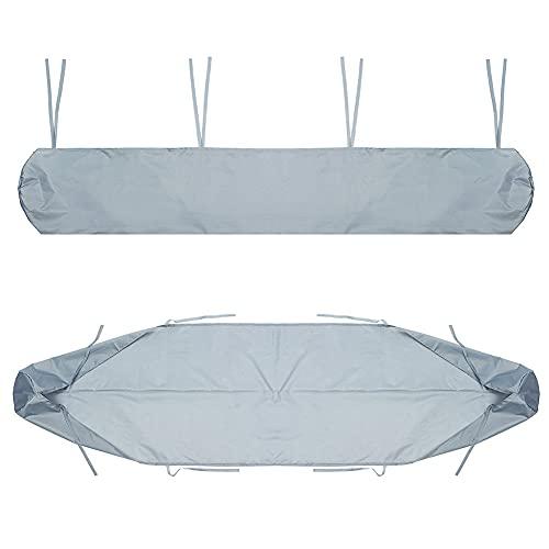 ISAKEN Markisenschutzhülle Abdeckplane Schutzhülle für Markisen für die Lagerung im Winter UV Regen Schutz Markisenabdeckung Markisenhülle Wasserdicht, 450CM