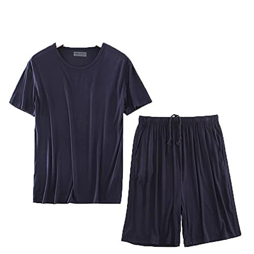 Conjunto De Camiseta De Pijama De Primavera Y OtoñO para Hombre, Pantalones...