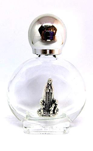 GTBITALY 90.294.90 013 apparizione Madonna di Fatima Bottiglia bottiglietta in Vetro con Tappo Argento per Acqua Santa