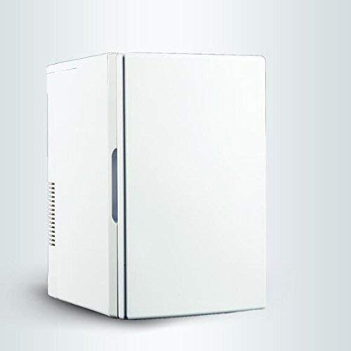 NLRHH Mini Kuuml; Hlteil, Coche portátil Frigorífico 18L Hogar Dual Dual Estudiante Dormitorio Mini Refrigerador Mini Compacto Refrigerador -White Peng