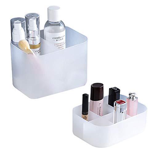 Cestor 2 PCS Make-up Aufbewahrungshalter,Kosmetikbox Organizer,vielseitige Sortierbox Make-up Aufbewahrung mit Fächern für Schreibtische Regale Badezimmer Küche,design #1
