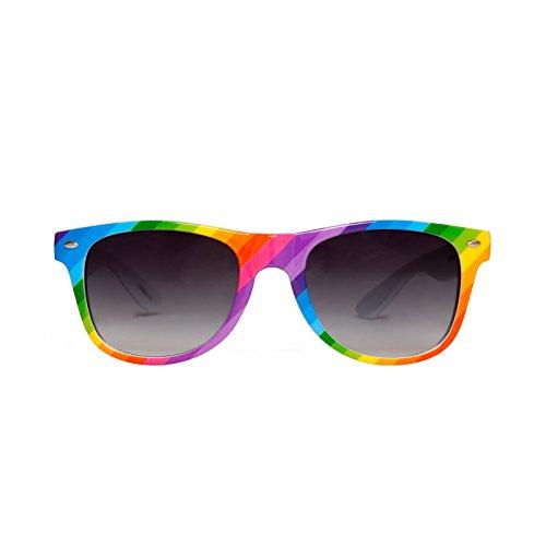 Gravity Shades Rainbow Color Horn-Rim Sunglass