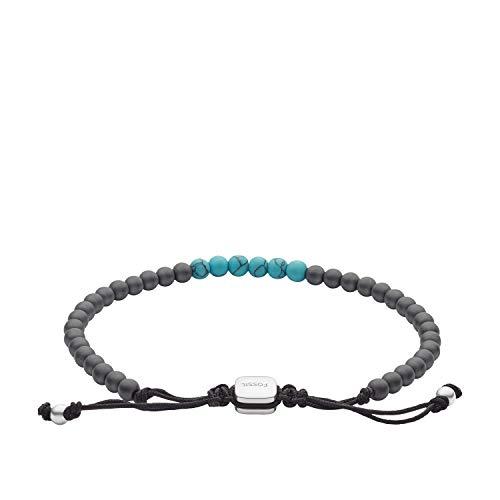 Fossil Turquoise and Hematite Beaded Bracelet