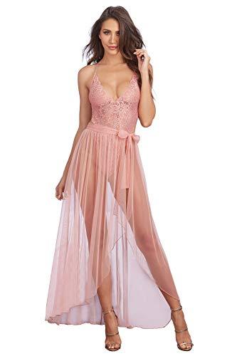 Dreamgirl Women's Plus Size Teddy, Vintage Rose, 2X