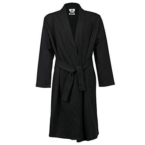 Towel City - Albornoz estilo Kimono para niño (11-13 años/Negro)